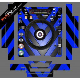 Black & Blue Chevron Pioneer CDJ-1000MK3