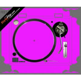 Solid Pink Technics SL-1200 MK2