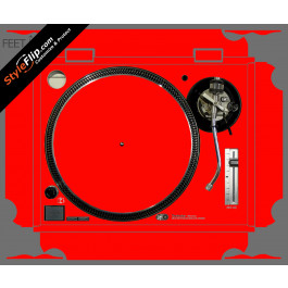 Solid Red Technics SL-1200 MK2