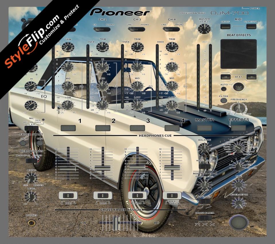 Burnout Pioneer DJM-700 Skin, Decals, Covers & Stickers. Buy custom ...