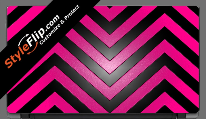 "Black & Hot Pink Chevron Acer Aspire V5 11.6"""