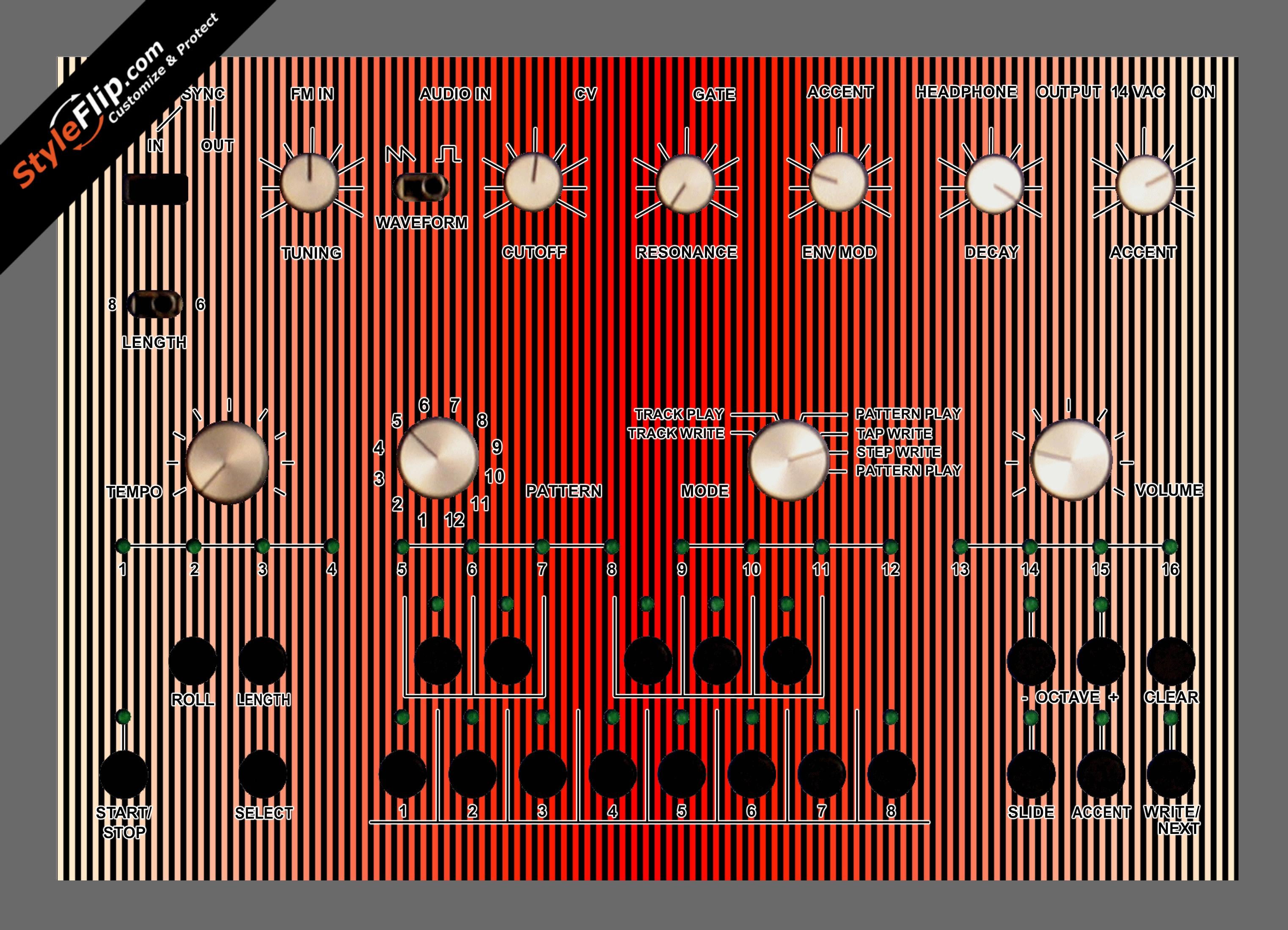 Red Stripes Acidlab Bassline 2