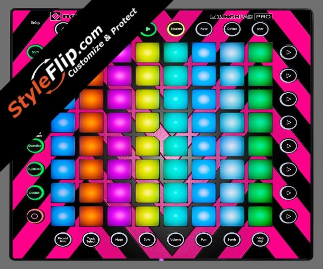Black & Hot Pink Chevron Novation Launchpad Pro