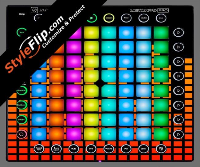 Orange Equalizer  Novation Launchpad Pro