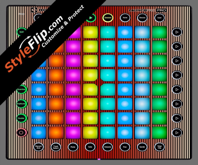 Red Stripes Novation Launchpad Pro