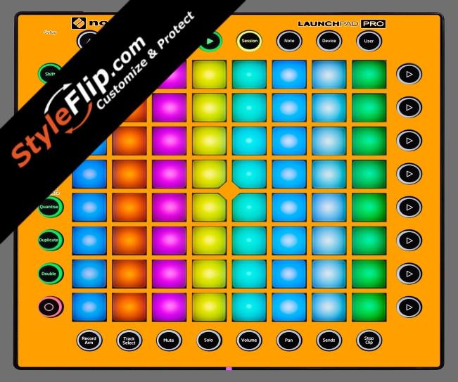 Solid Orange Novation Launchpad Pro