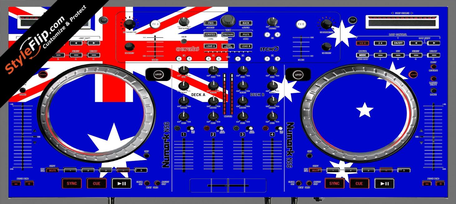 Australian Flag  Numark NS-6