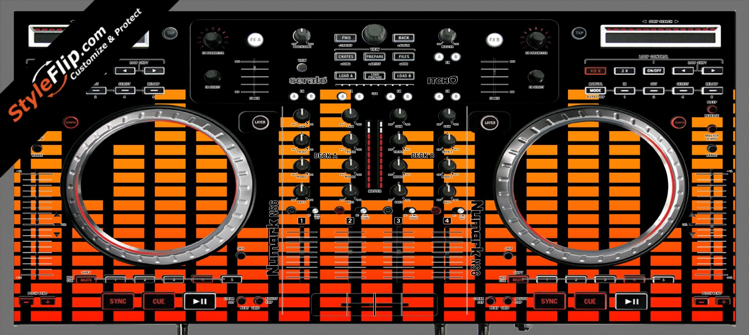 Orange Equalizer  Numark NS-6