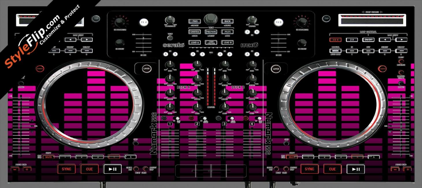 Pink Equalizer Numark NS-6