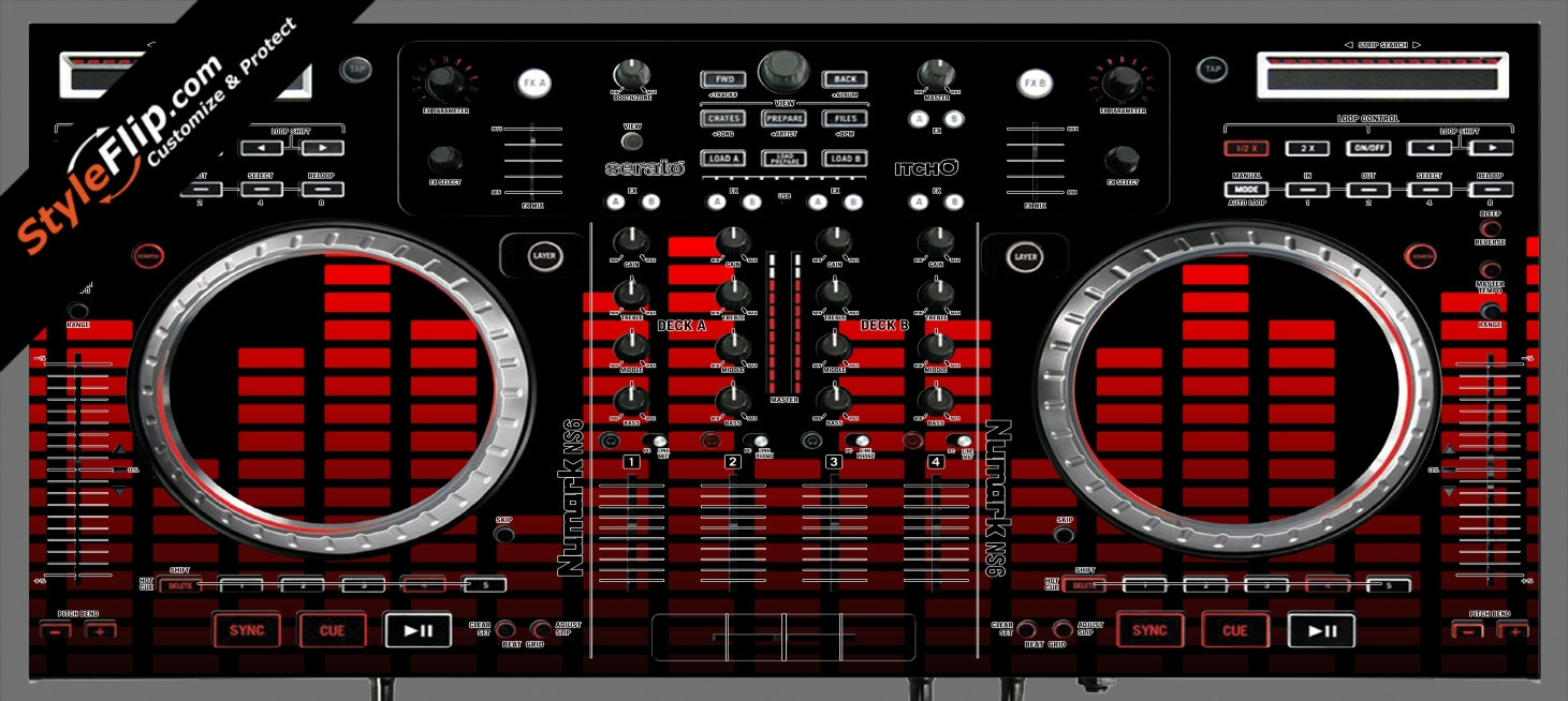 Red Equalizer Numark NS-6