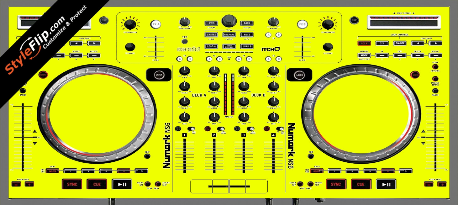 Solid Yellow Numark NS-6