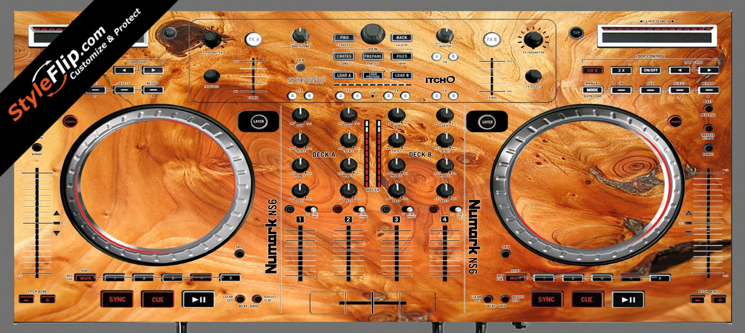 Stained Wood Numark NS-6