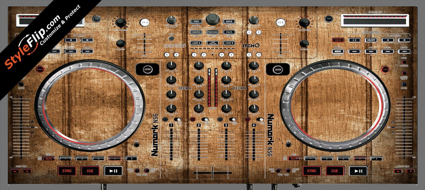 Wood Panels  Numark NS-6