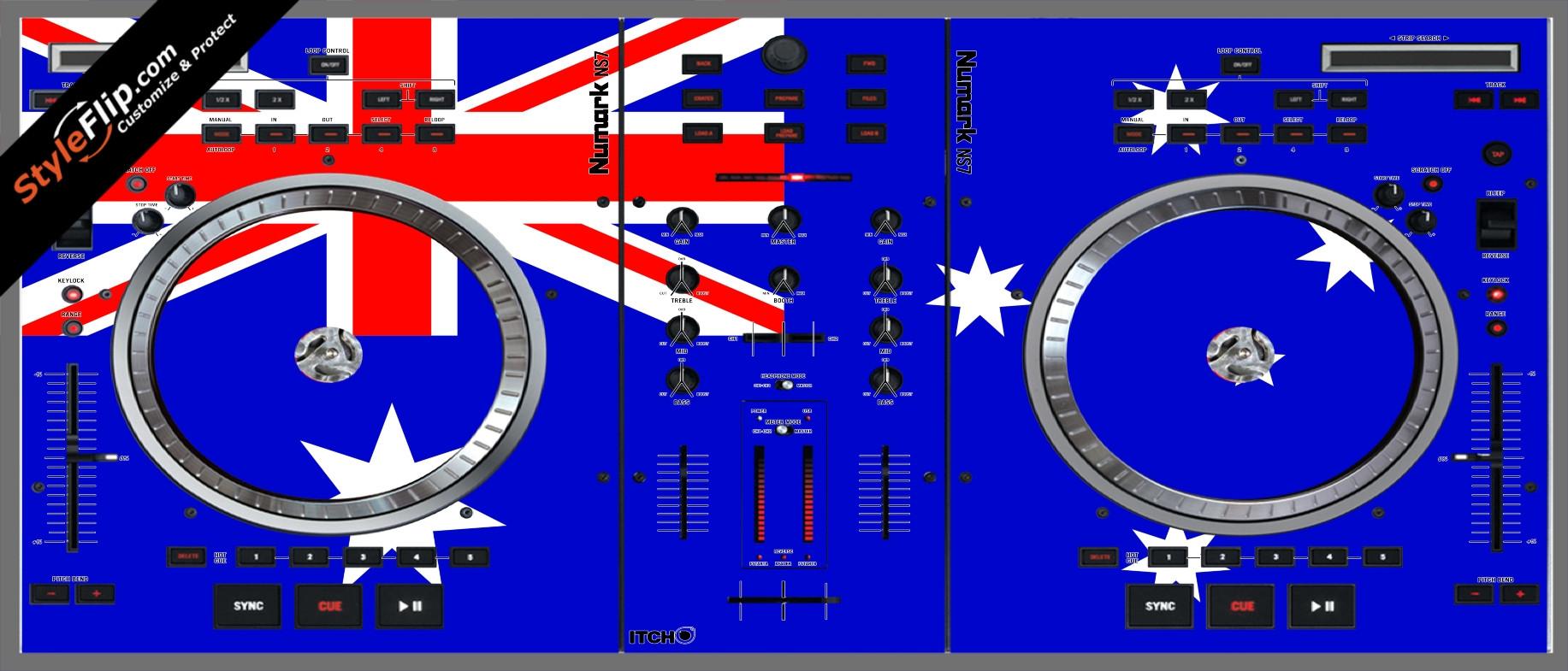 Australian Flag  Numark NS-7