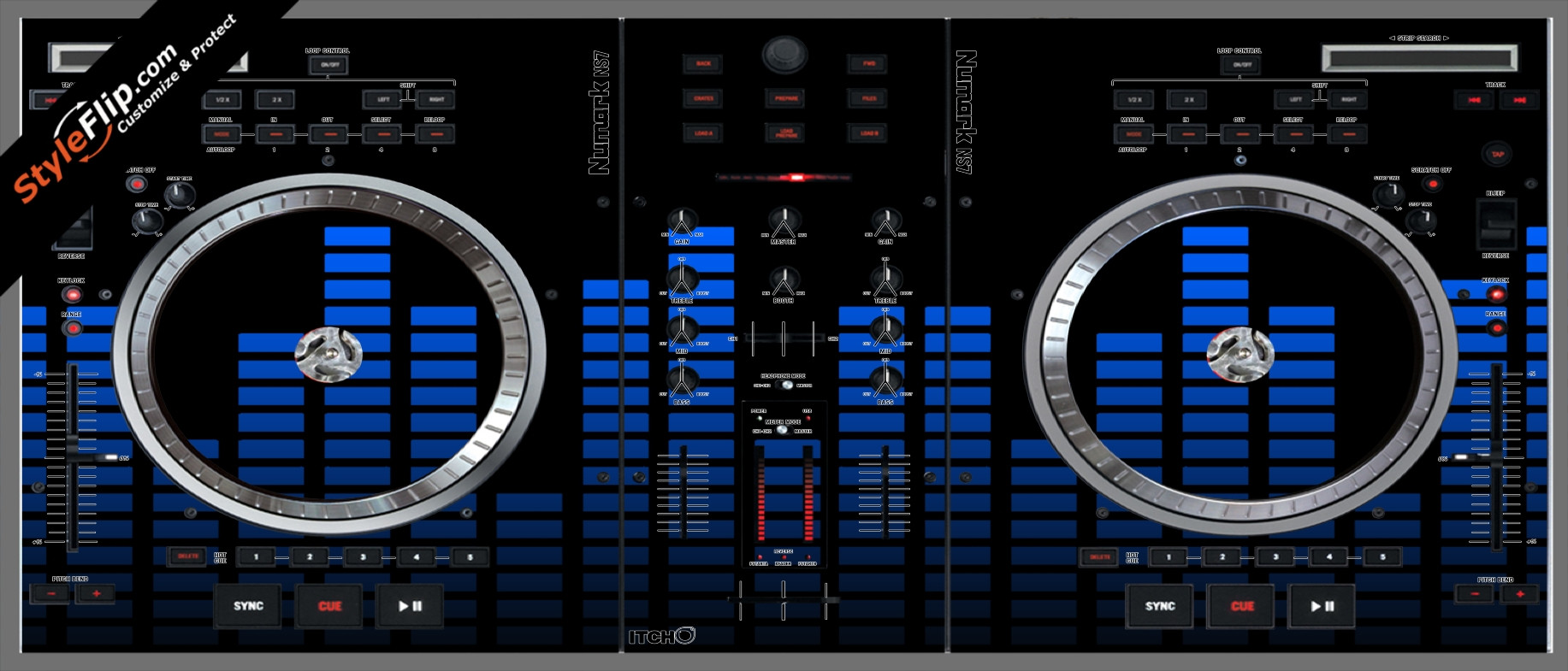 Blue Equalizer Numark NS-7