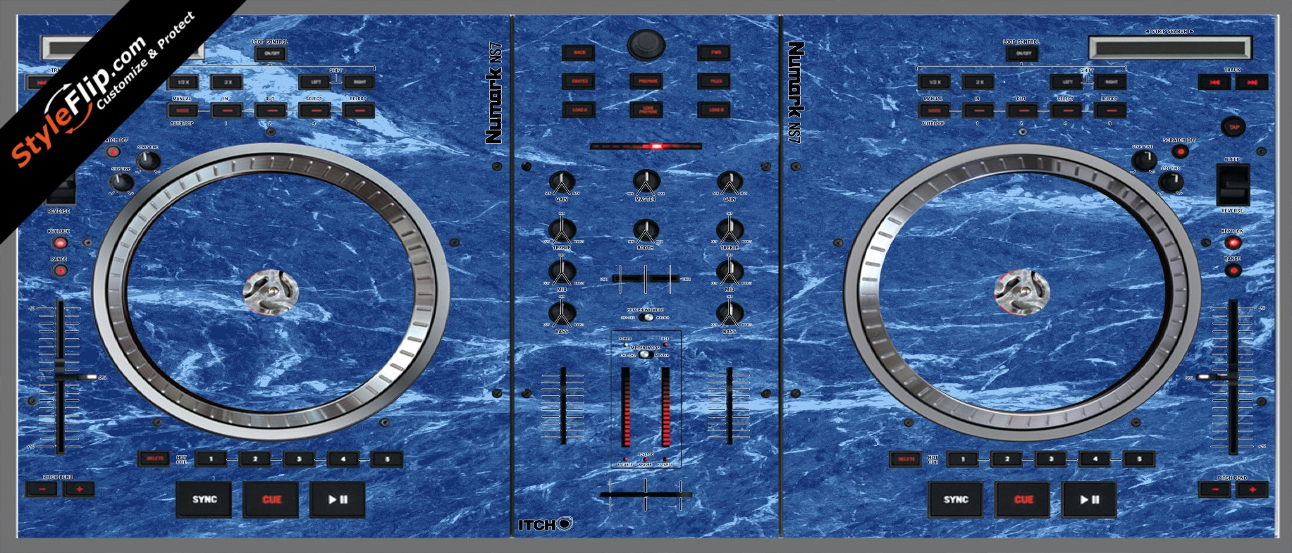 Blue Marble  Numark NS-7