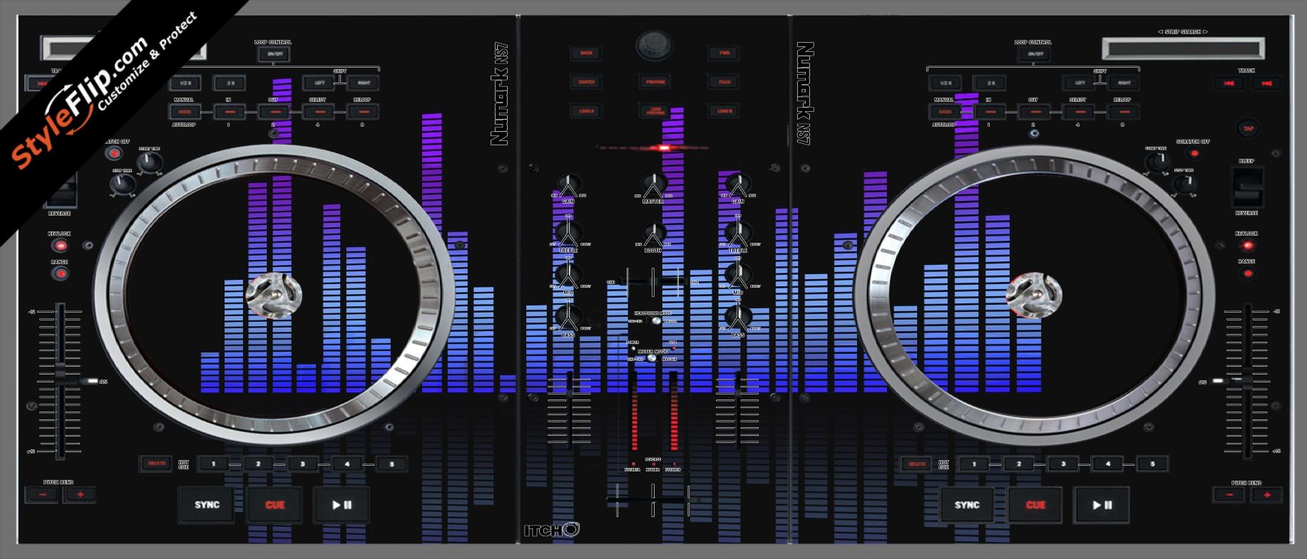 Blue Tones Numark NS-7