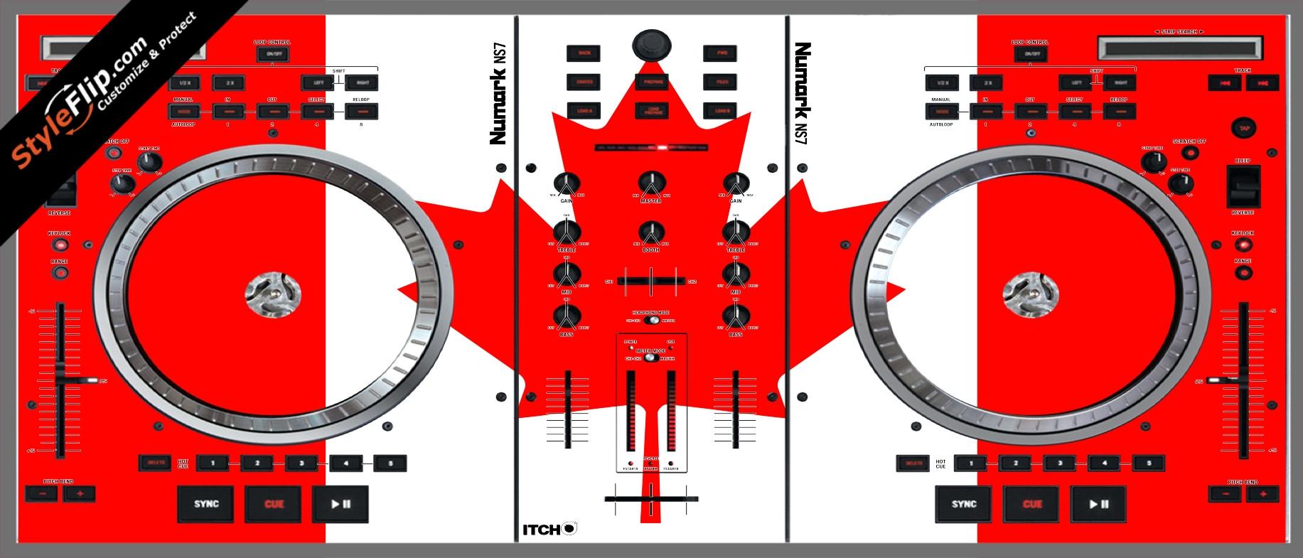 Canadian Flag  Numark NS-7