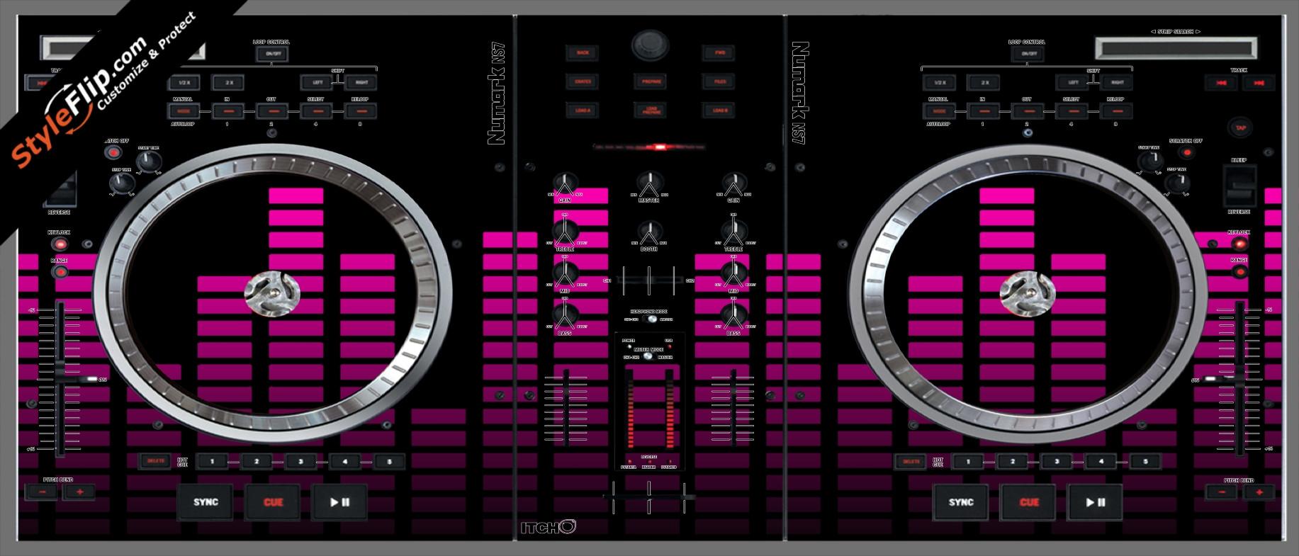 Pink Equalizer Numark NS-7