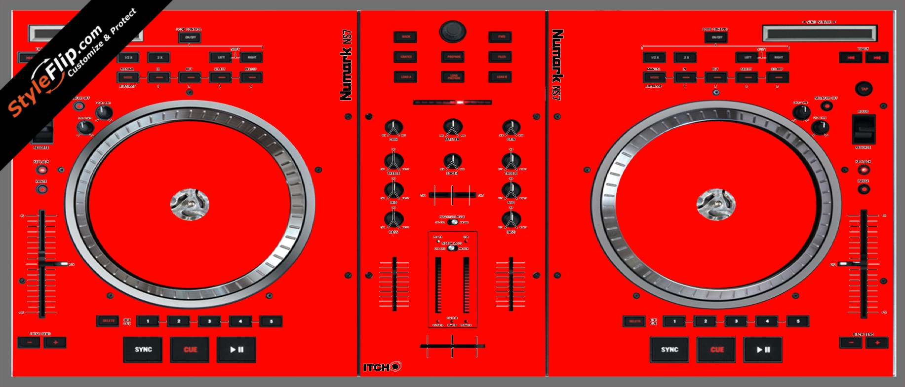 Solid Red Numark NS-7