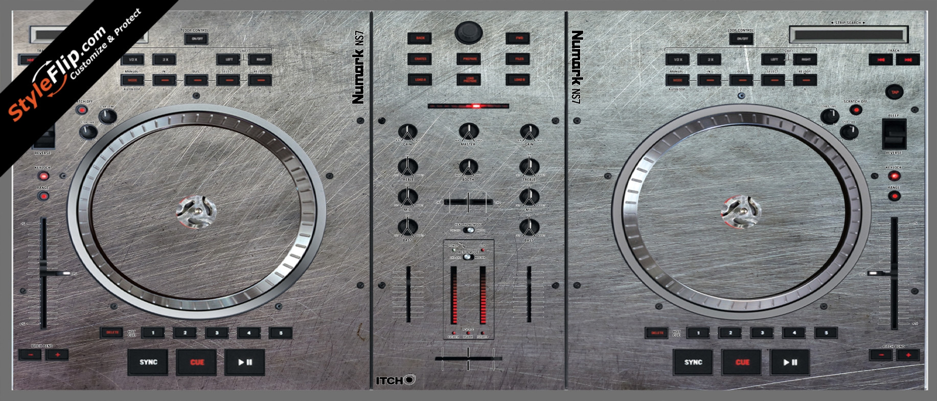 Steel Your Faceplate Numark NS-7