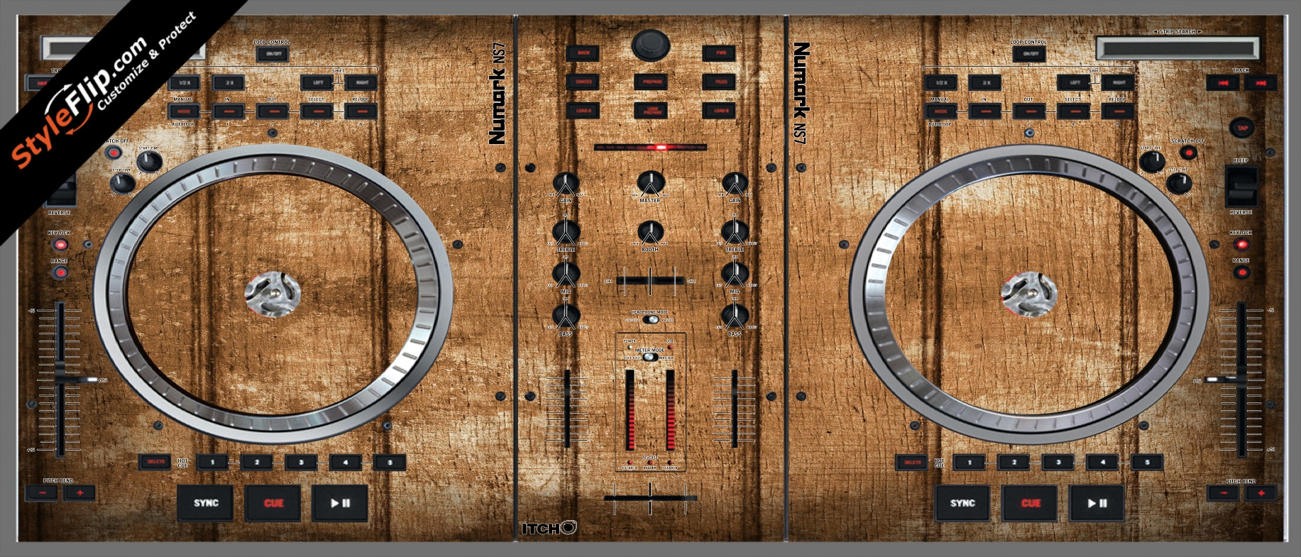Wood Panels  Numark NS-7