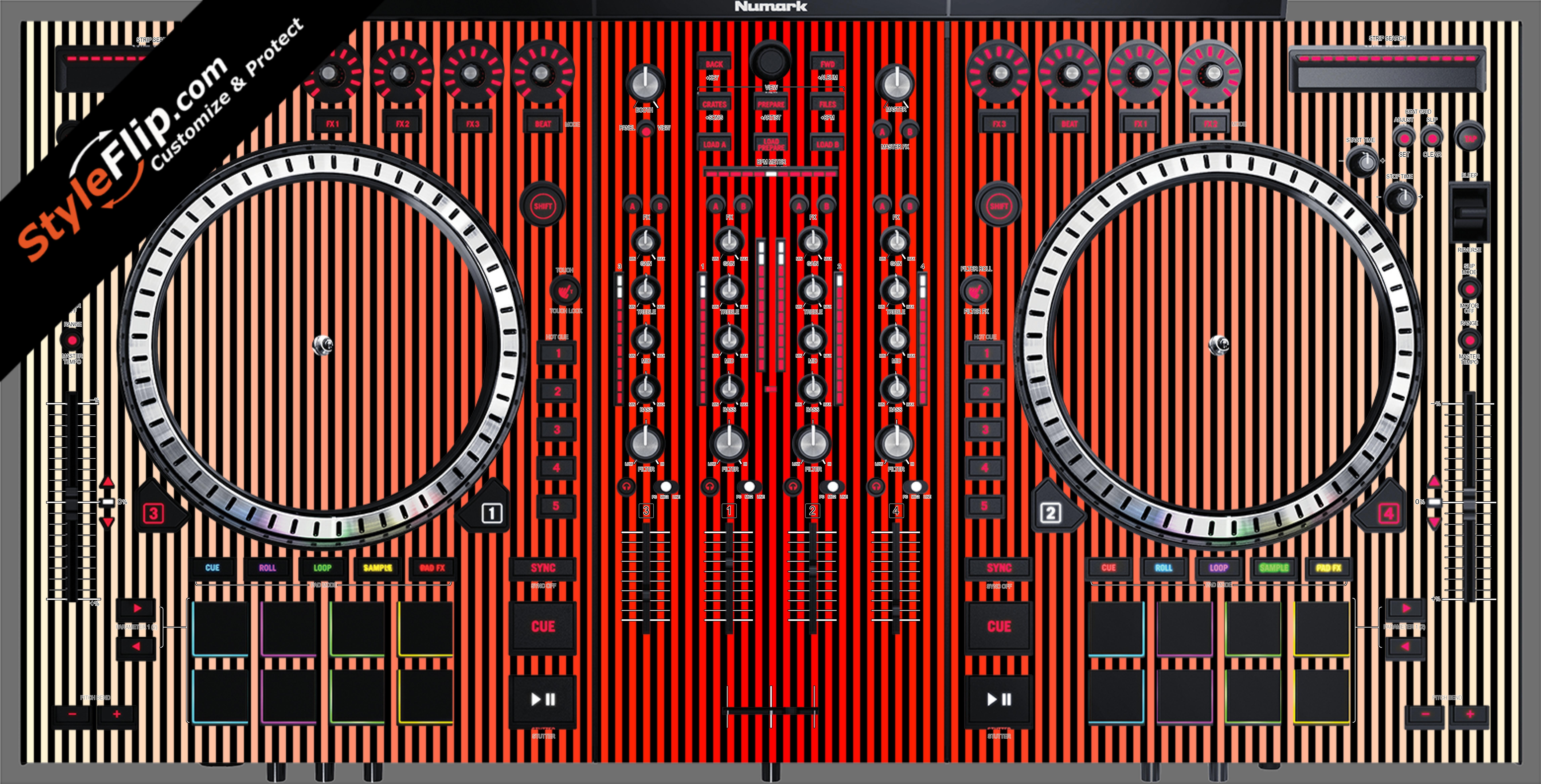 Red Stripes Numark NS-7 III