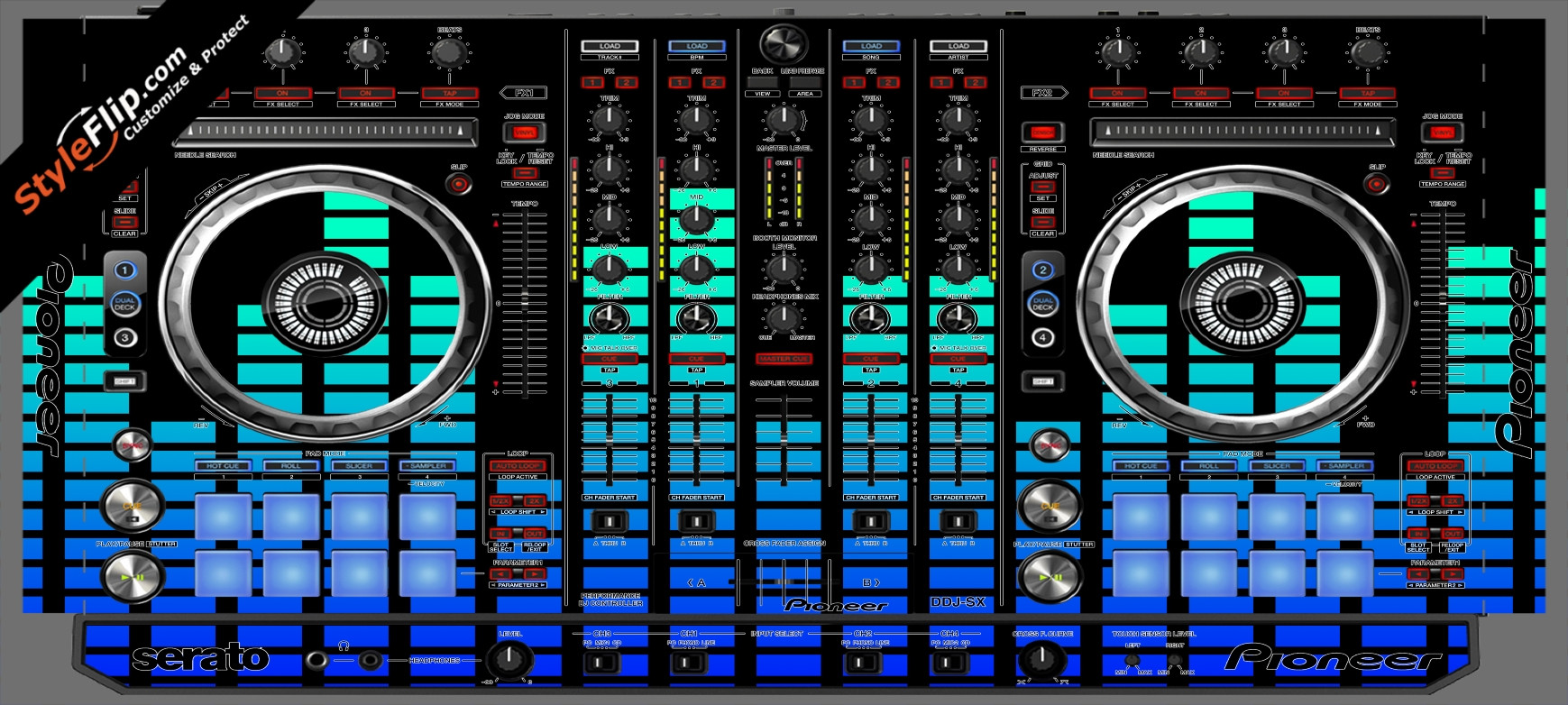 Blue Equalizer  Pioneer DDJ-SX