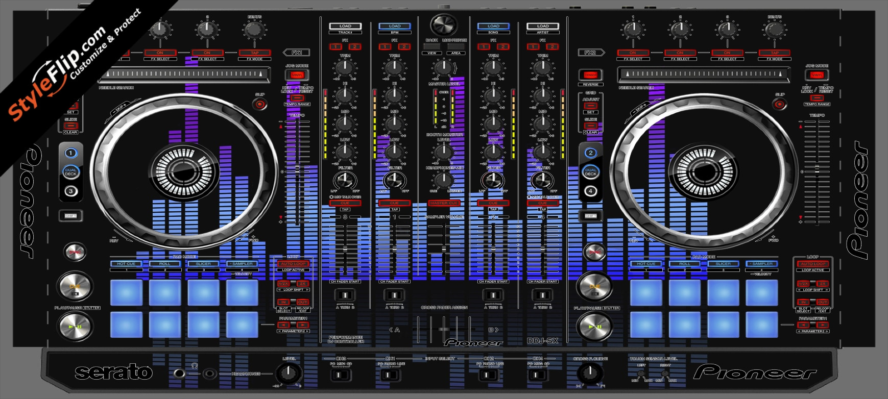 Blue Tones Pioneer DDJ-SX