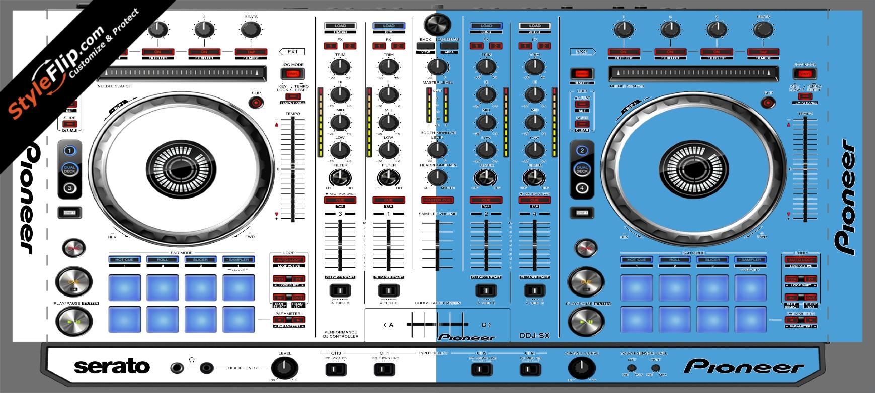 Blue & White Pioneer DDJ-SX