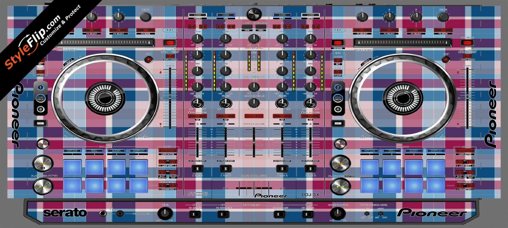 Classic Plaid  Pioneer DDJ-SX