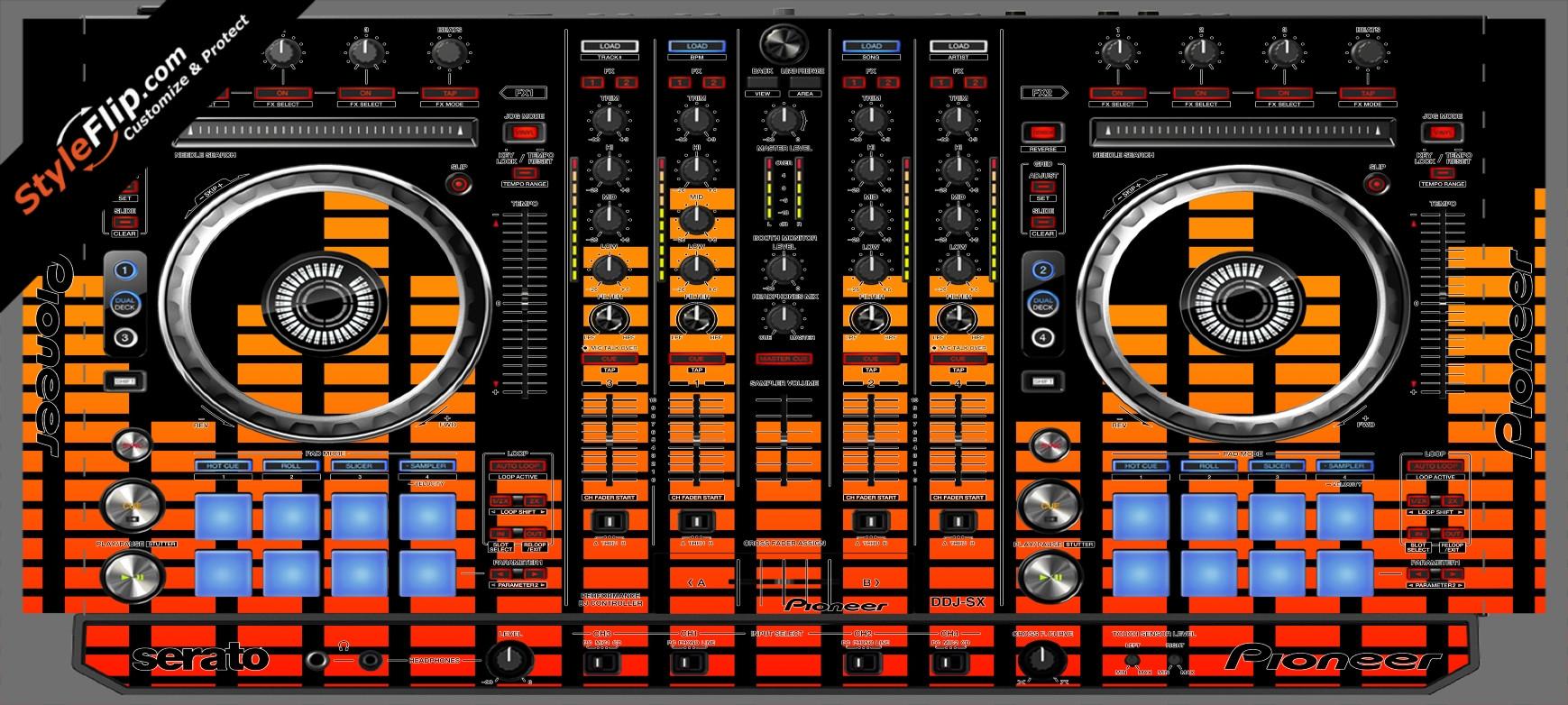 Orange Equalizer  Pioneer DDJ-SX