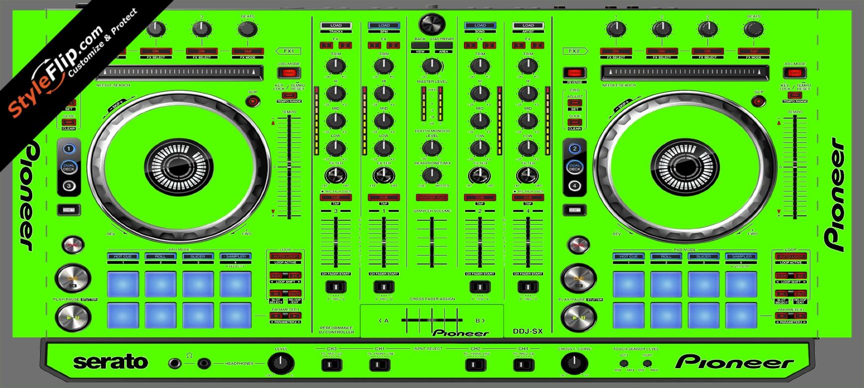 Solid Green Pioneer DDJ-SX