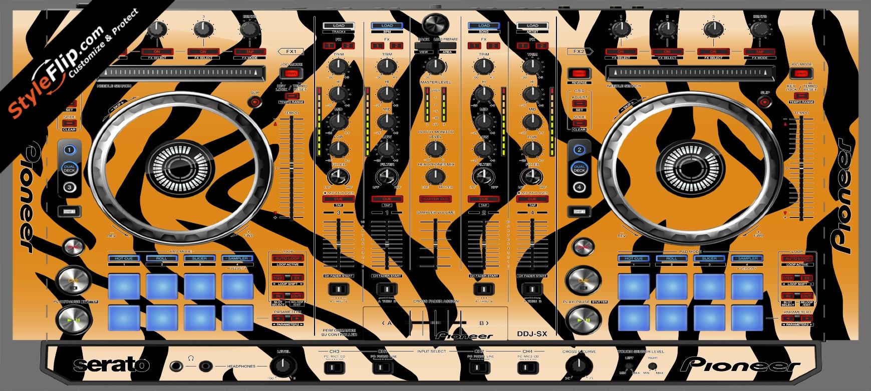 Tiger Stripes Pioneer DDJ-SX