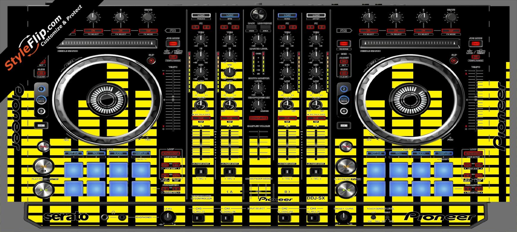 Yellow Equalizer  Pioneer DDJ-SX