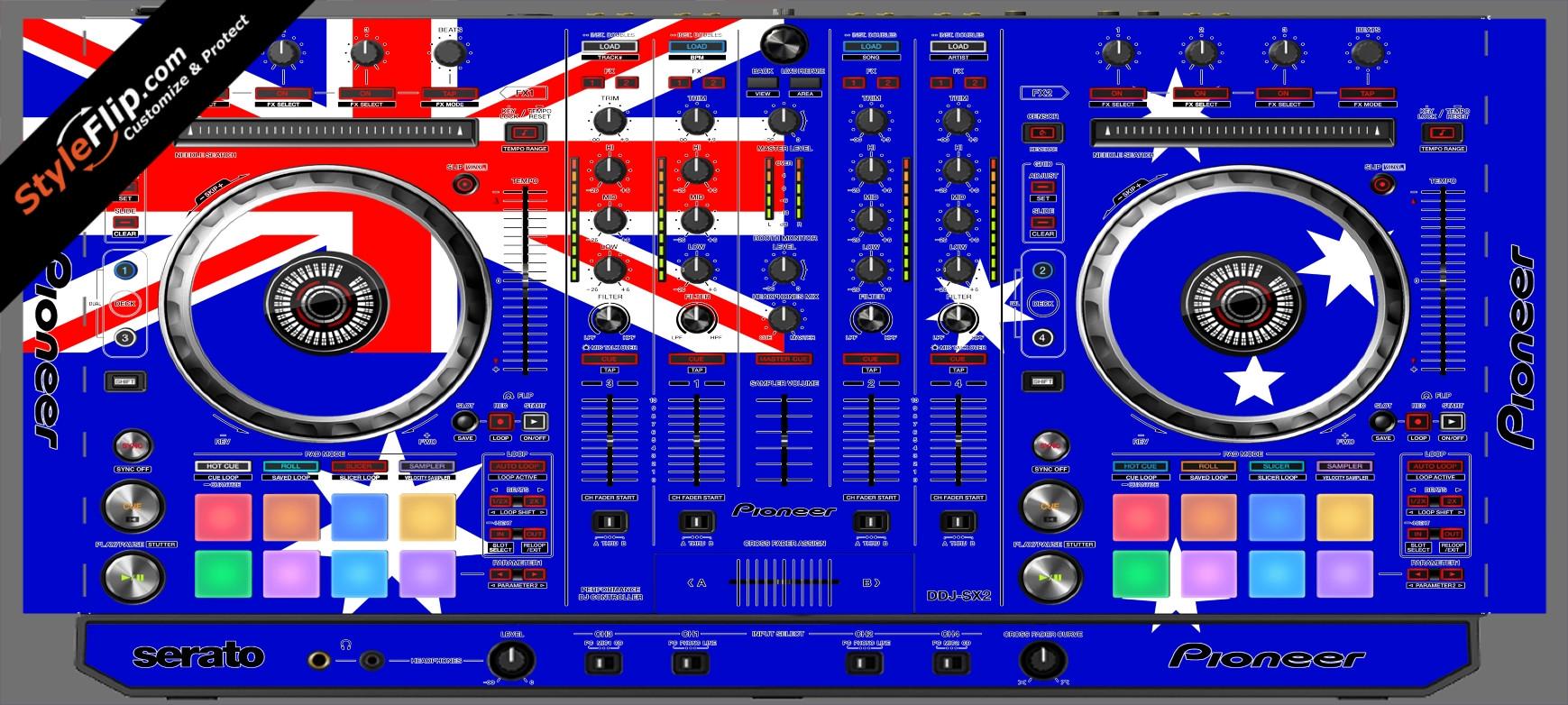 Australian Flag  Pioneer DDJ-SX2