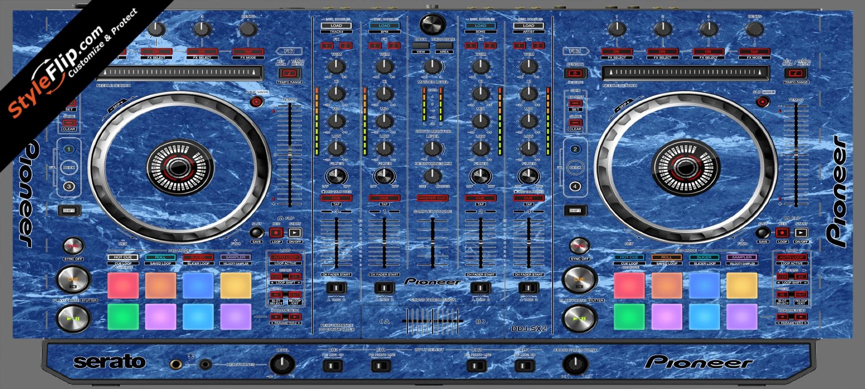 Blue Marble  Pioneer DDJ-SX2