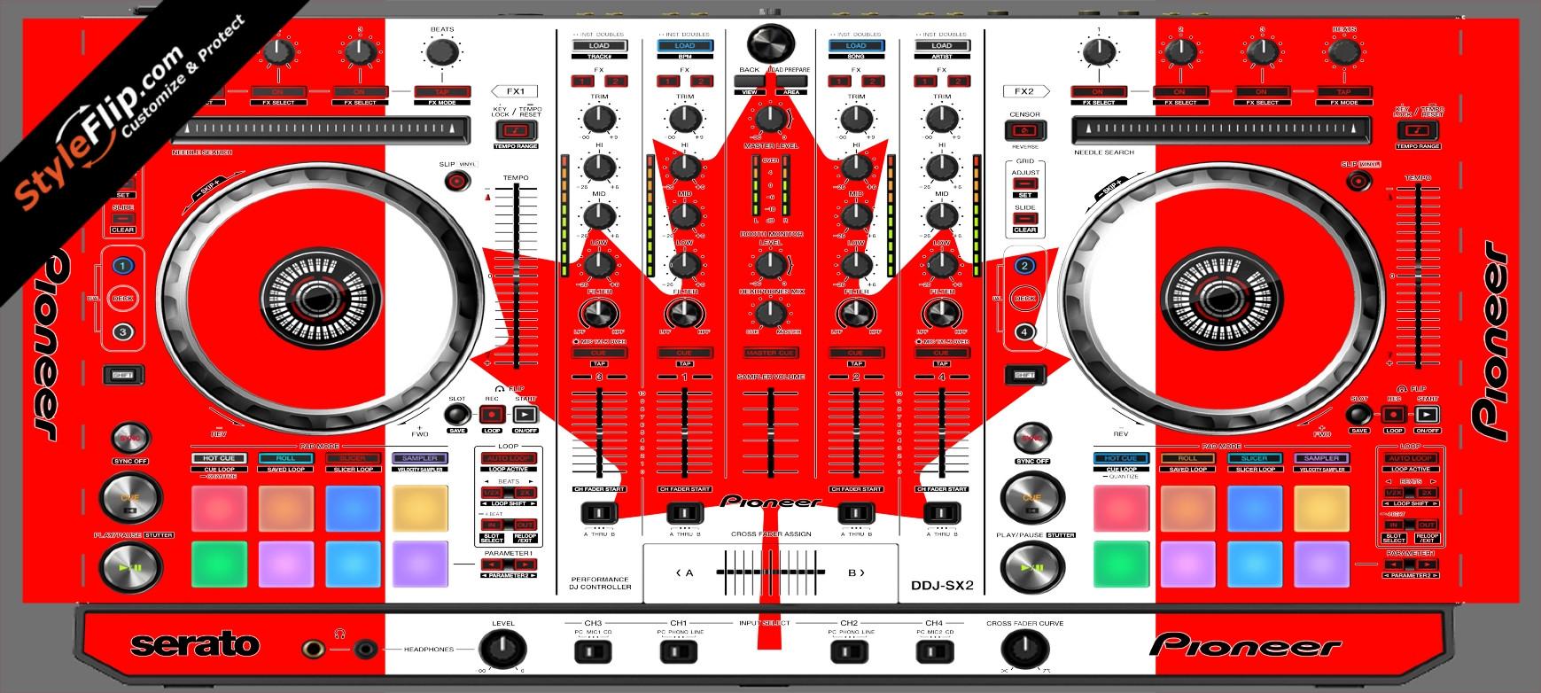 Canadian Flag  Pioneer DDJ-SX2