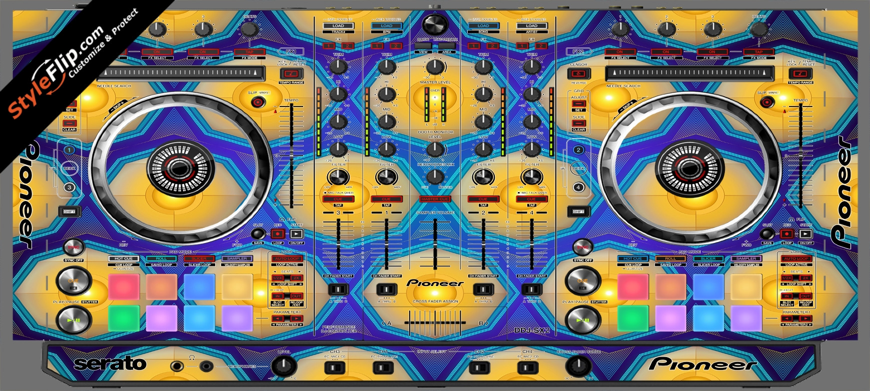 Honeycomb  Pioneer DDJ-SX2