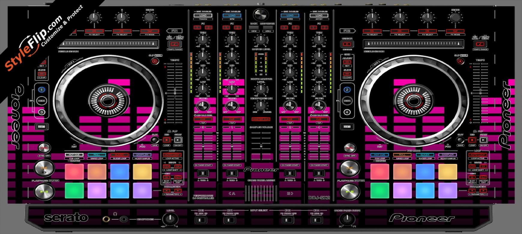 Pink Equalizer Pioneer DDJ-SX2