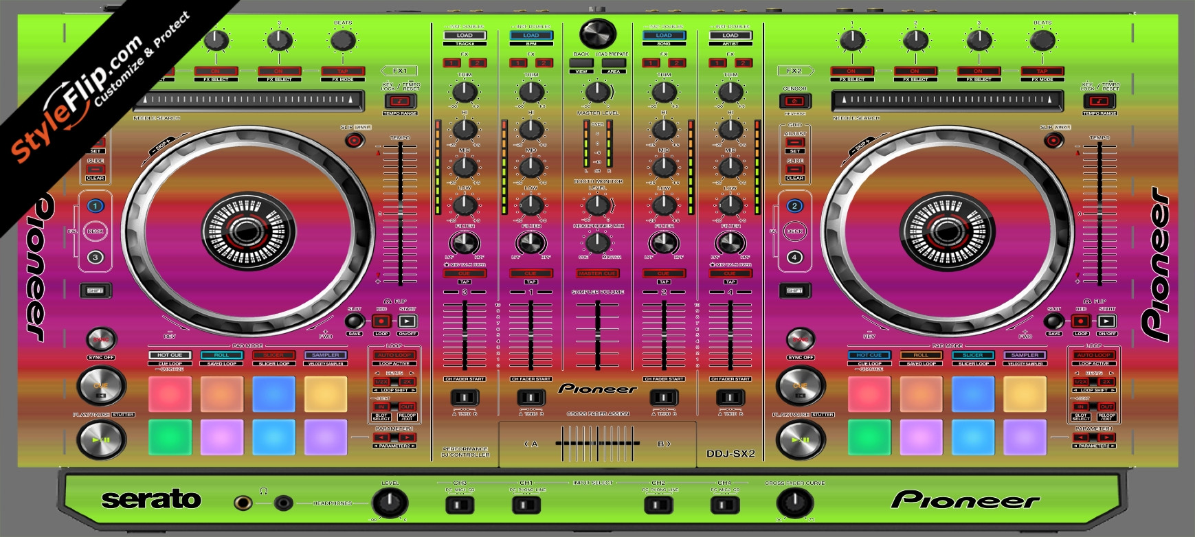 Rainbow Pioneer DDJ-SX2