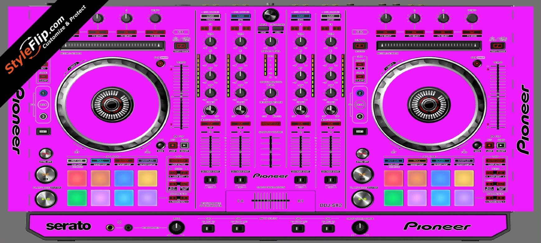 Solid Pink Pioneer DDJ-SX2