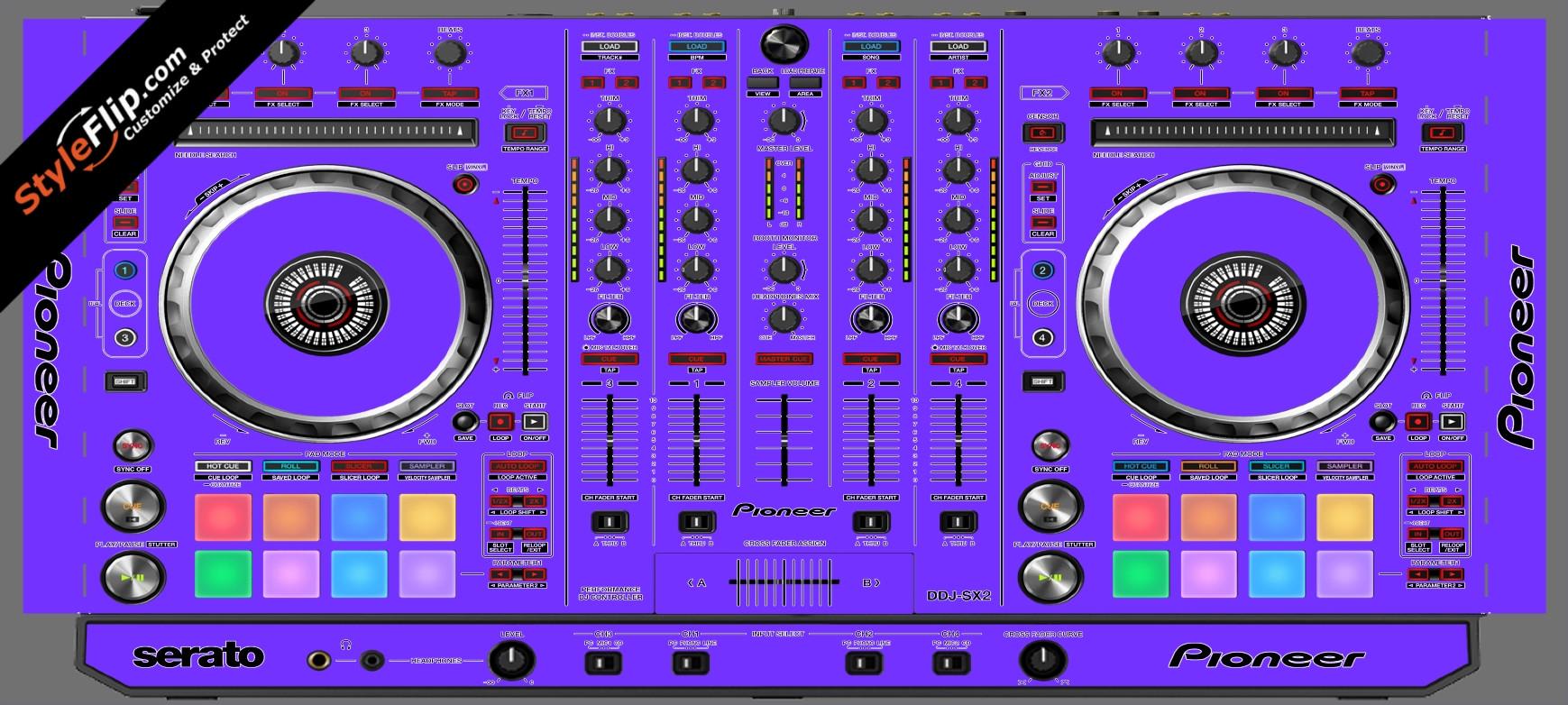 Solid Purple Pioneer DDJ-SX2