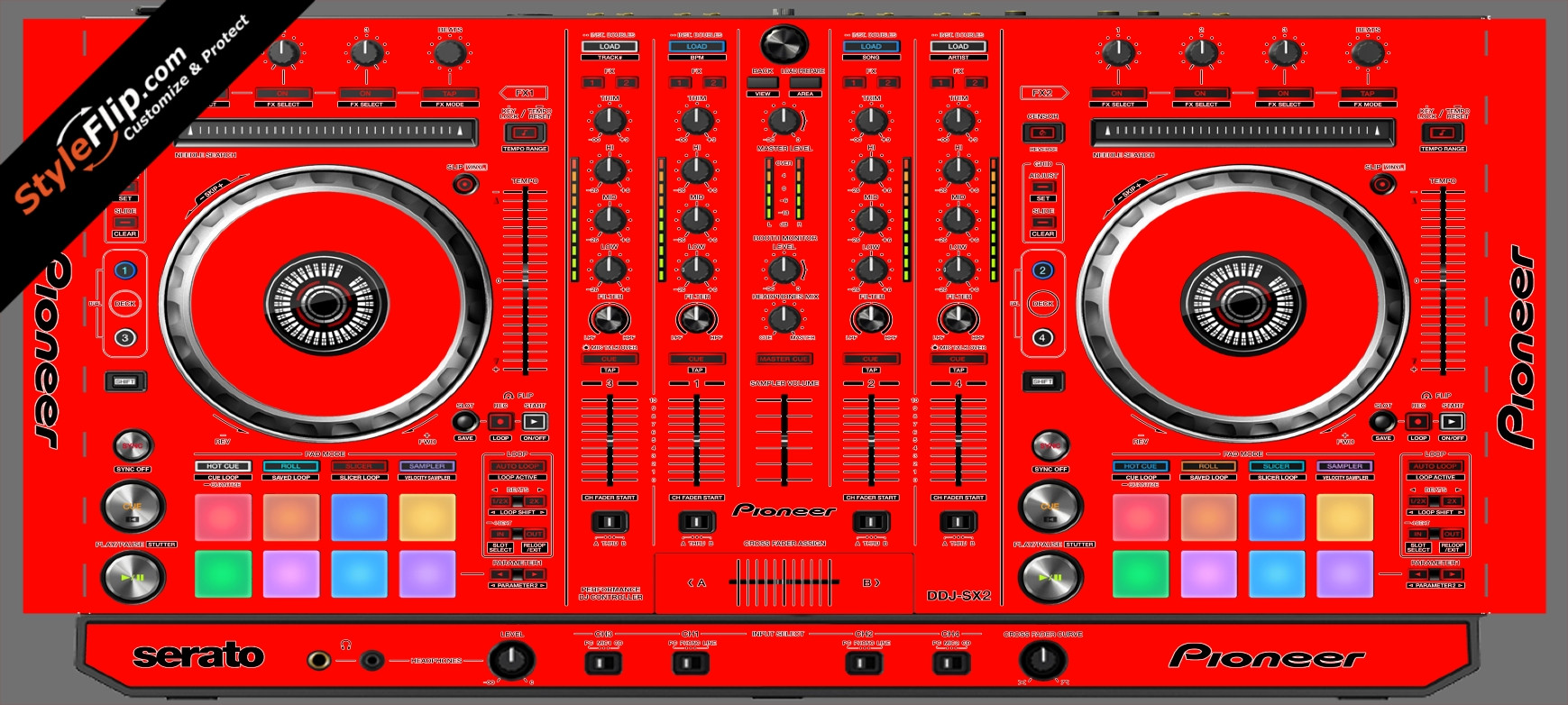 Solid Red Pioneer DDJ-SX2