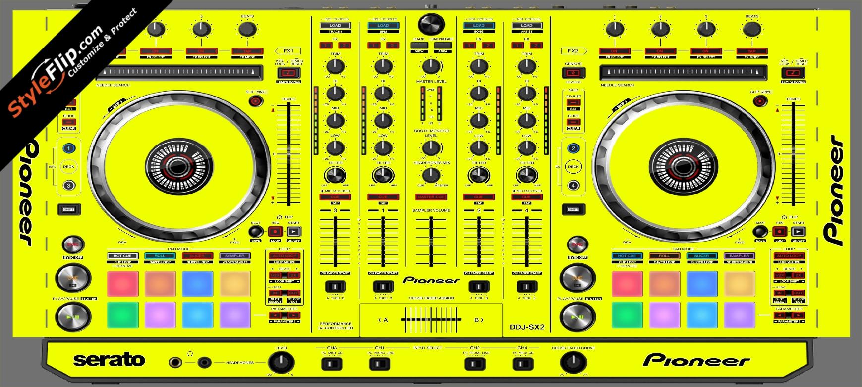 Solid Yellow Pioneer DDJ-SX2