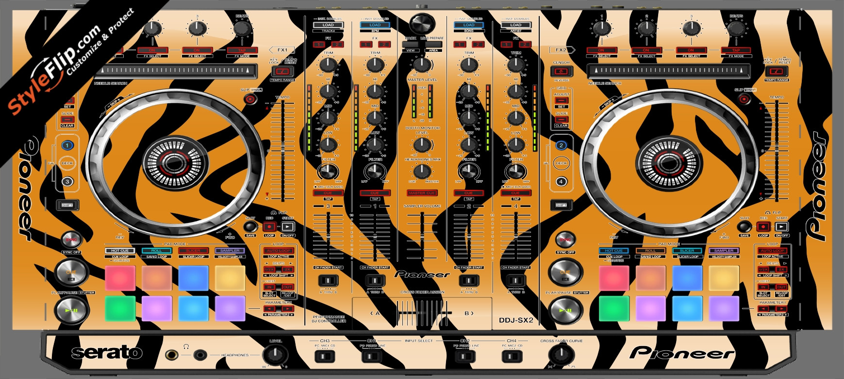 Tiger Stripes Pioneer DDJ-SX2