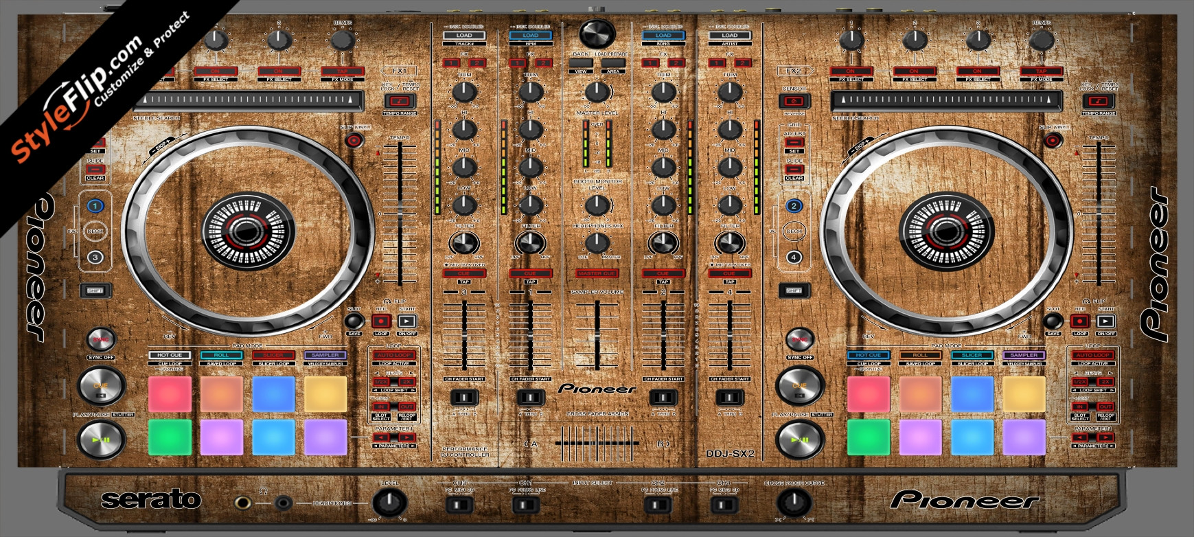 Wood Panels  Pioneer DDJ-SX2