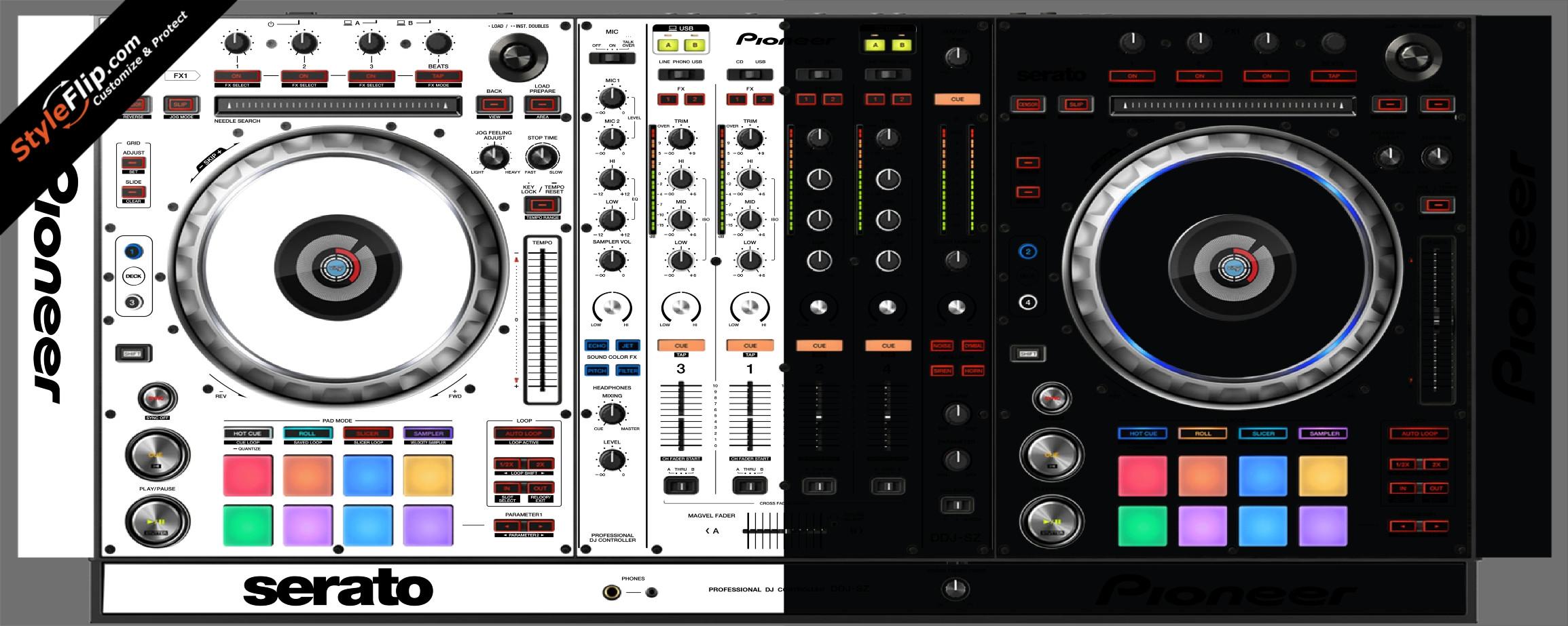 Black & White Pioneer DDJ-SZ
