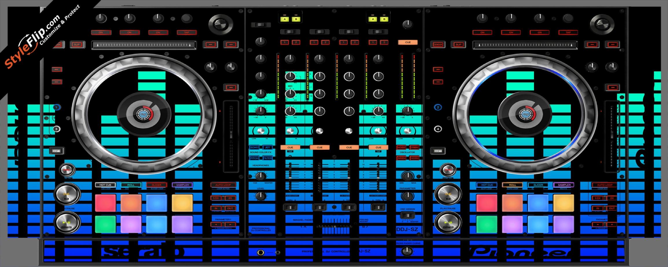 Blue Equalizer  Pioneer DDJ-SZ