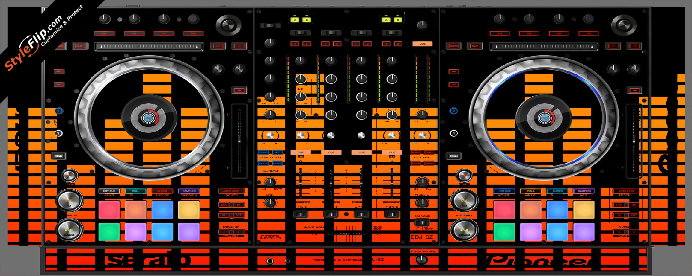 Orange Equalizer  Pioneer DDJ-SZ